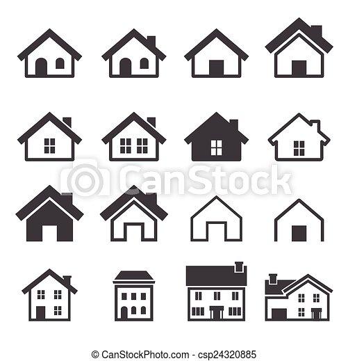 haus ikone vektor suche clipart illustration zeichnung und eps grafische bilder csp24320885. Black Bedroom Furniture Sets. Home Design Ideas