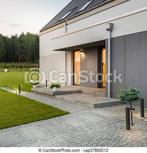 Haus modern kleingarten dekorativ drau en kleingarten for Kleingarten modern