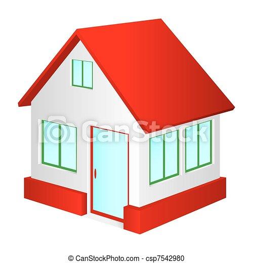 Haus Roof Rotes Haus Hintergrund Roof Klein Weiß Rot