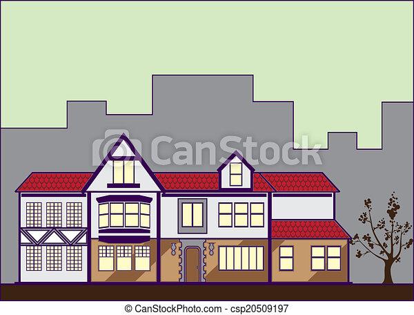 Superior Haus, Rotes , Dach   Csp20509197