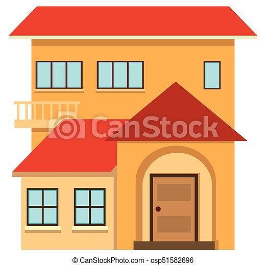 Amazing Haus, Rotes , Dach   Csp51582696