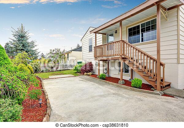 Haus Stil Bungalow Amerikanische Aussen Stil Boden Haus Area