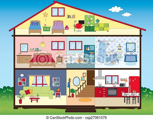 Inneneinrichtung Haus Abbildung Lustiges