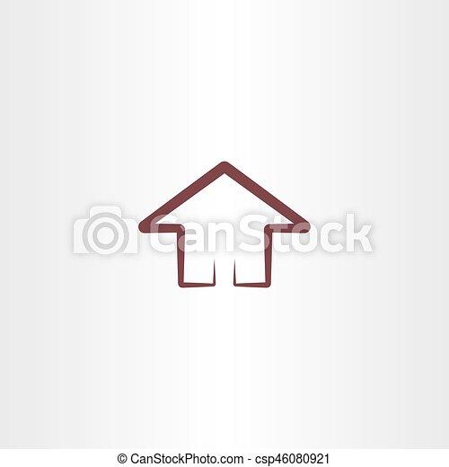 Haus Symbol Entwerfen Element Haus Symbol Element Design Zeichen