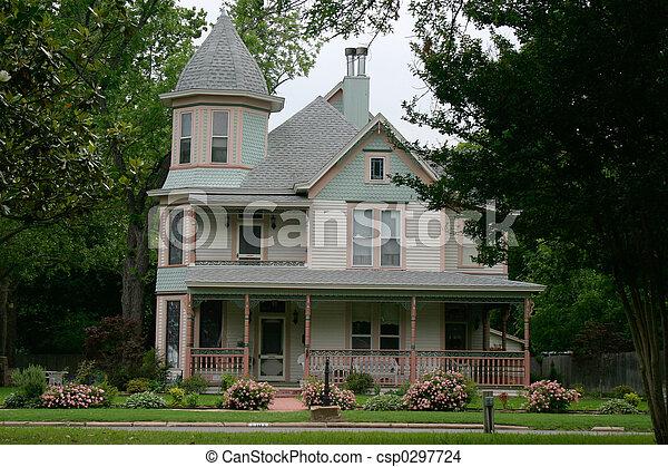 Haus viktorianische stadt bunte haus victorian ra for Viktorianisches haus