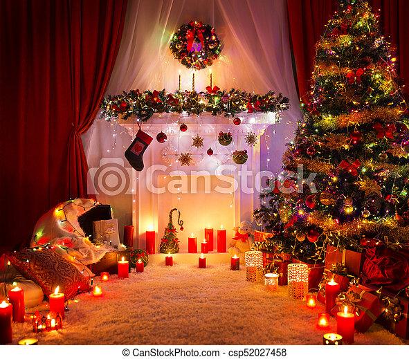 Weihnachtsdeko Baum.Haus Zimmer Baum Weihnachtsdeko Beleuchtung Jahr Inneneinrichtung Neu Kaminofen Weihnachten