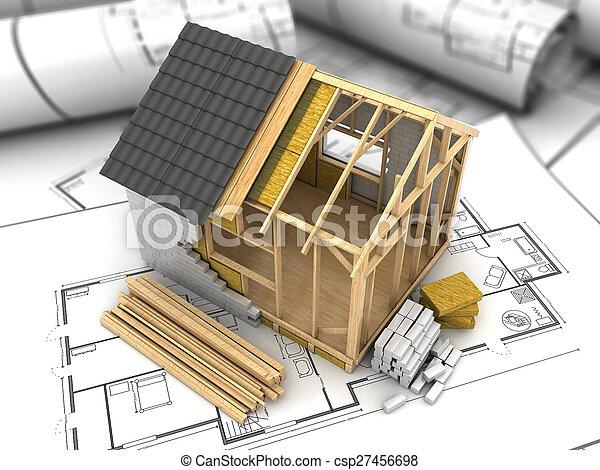 Ein Hausplan - csp27456698