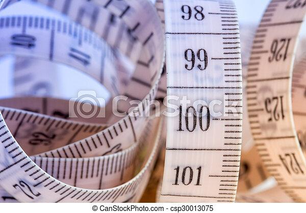 haut, bande, vue, mesurer, fin - csp30013075