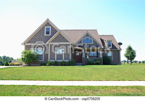 haut gamme, américain, maison, résidentiel - csp0706205