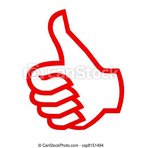 haut, gesture., pouces - csp8151494