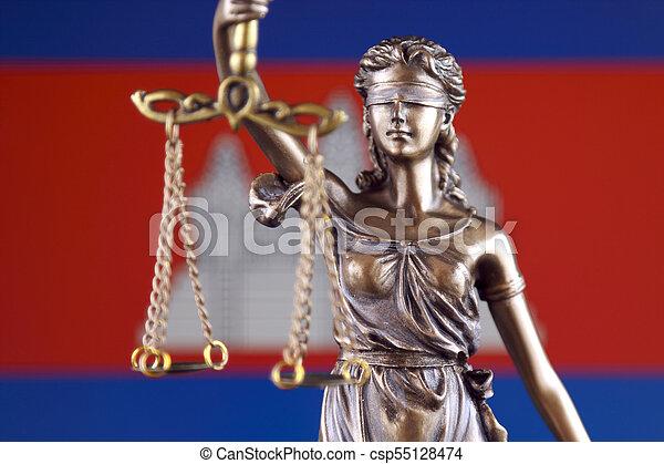 haut., justice, flag., symbole, cambodge, fin, droit & loi - csp55128474
