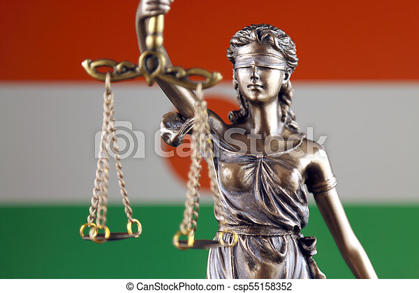haut., justice, flag., symbole, fin, niger, droit & loi - csp55158352