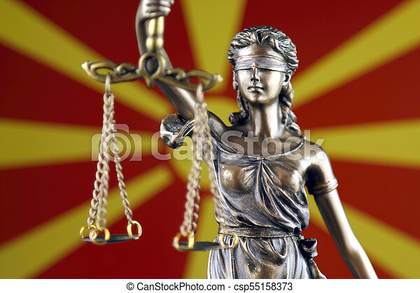 haut., justice, flag., symbole, macédoine, fin, droit & loi - csp55158373