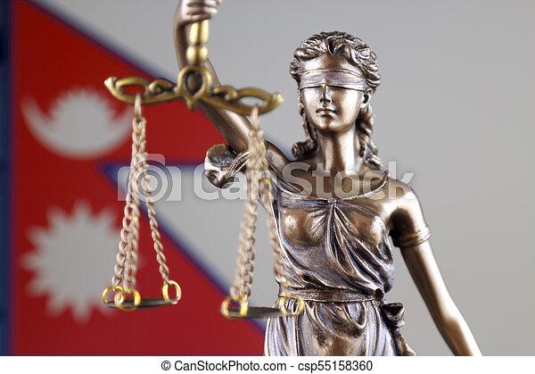 haut., justice, flag., symbole, népal, fin, droit & loi - csp55158360
