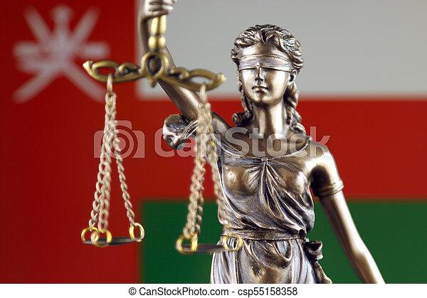 haut., justice, flag., symbole, oman, fin, droit & loi - csp55158358