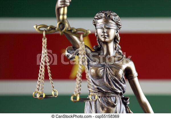 haut., justice, flag., symbole, suriname, fin, droit & loi - csp55158369