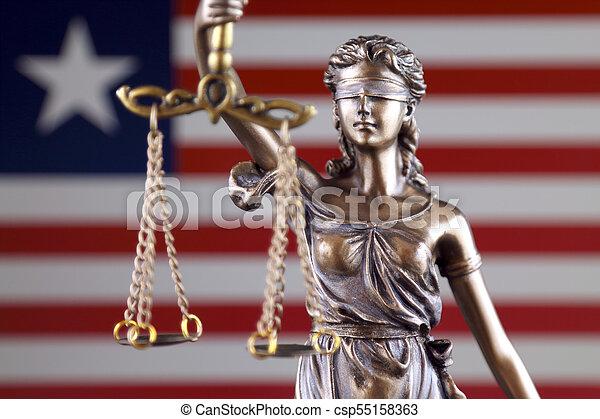 haut., libéria, justice, flag., symbole, fin, droit & loi - csp55158363