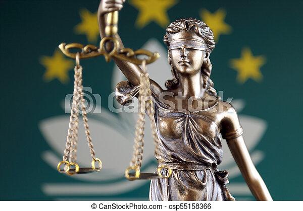 haut., macau, justice, flag., symbole, fin, droit & loi - csp55158366