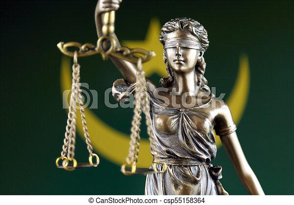 haut., mauritanie, justice, flag., symbole, fin, droit & loi - csp55158364