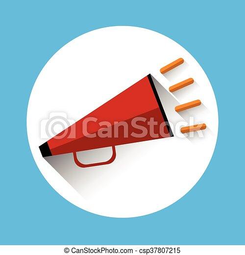 haut-parleur, porte voix, icône - csp37807215