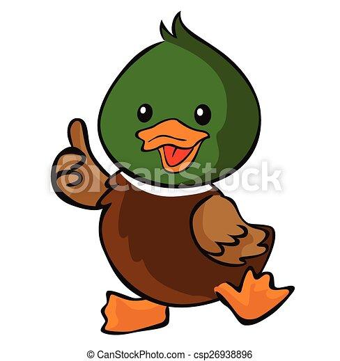 haut, pouce, canard - csp26938896
