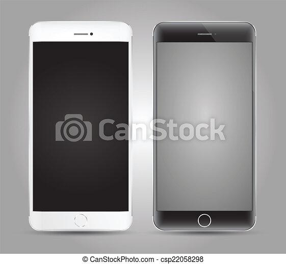 haut., smartphone, railler, vecteur - csp22058298