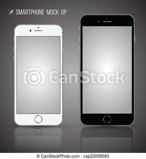 haut., smartphone, railler, vecteur - csp22058583