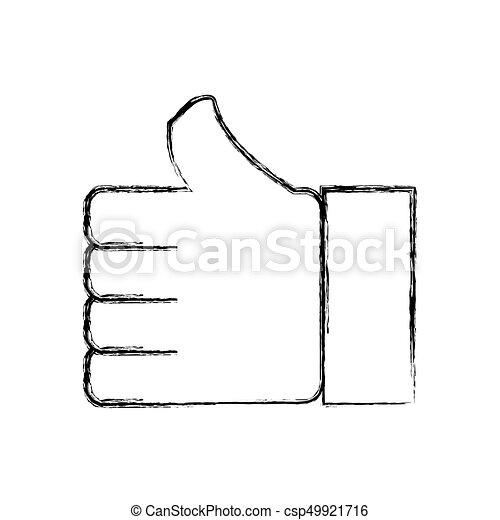 haut, symbole, aimer, pouce - csp49921716