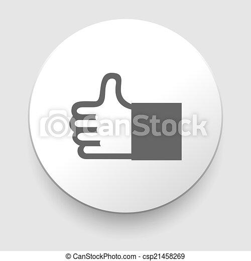 haut, vecteur, pouce, icône - csp21458269