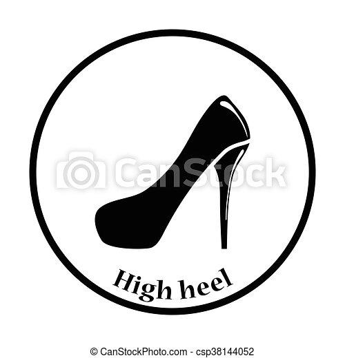 Haute Chaussure Talon Femme Icône