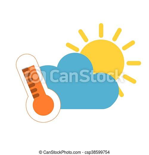 haute température, icône - csp38599754