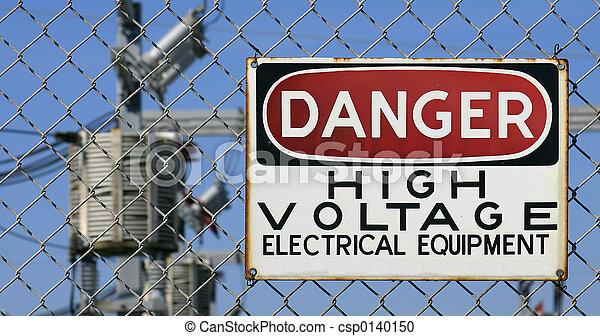haute tension, danger - csp0140150