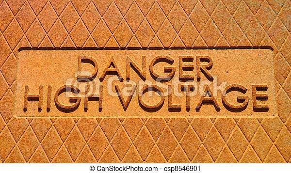 haute tension, danger - csp8546901