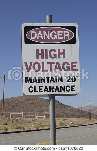 haute tension, danger - csp11070822