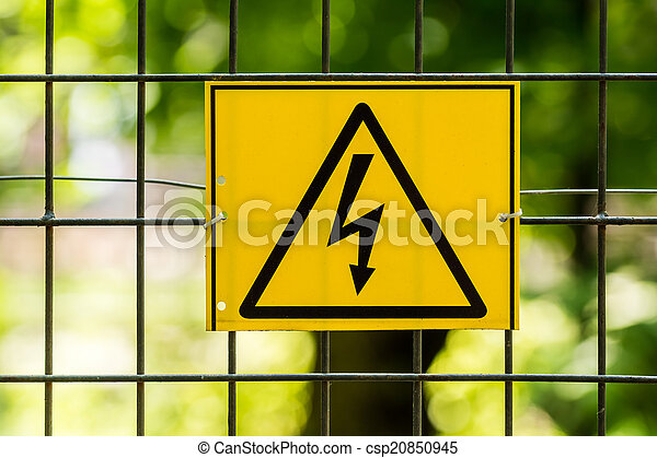 haute tension, danger - csp20850945
