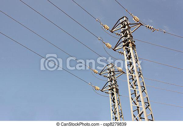 haute tension, pylônes - csp8279839