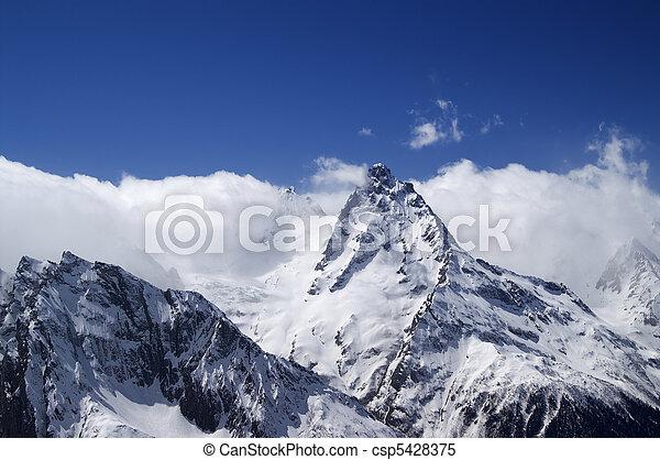 hautes montagnes, nuage - csp5428375