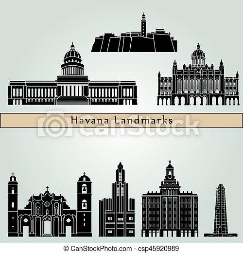 Havana V2 Landmarks - csp45920989