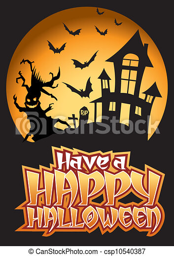 Have A Happy Bats Halloween Illy Vector