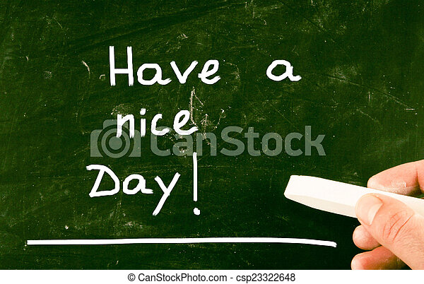 have a nice day concept - csp23322648