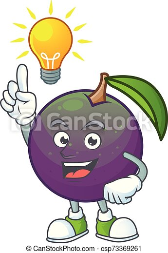 Have an idea star apple character in cartoon mascot - csp73369261