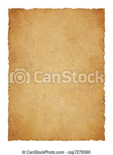 haveloos, randen, perkament - csp7279360