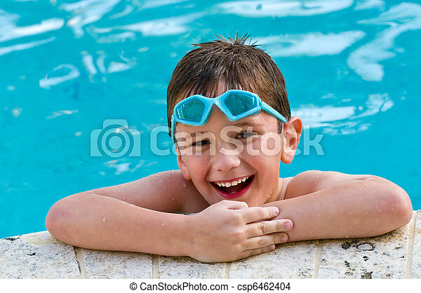Having fun in the pool - csp6462404