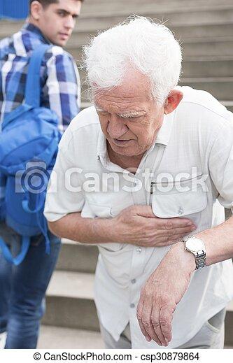 Having pain in chest - csp30879864