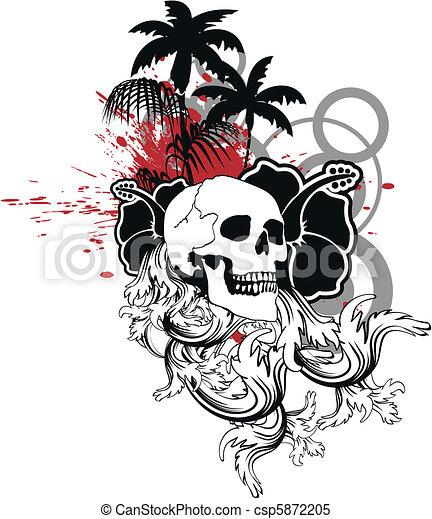 Ornamento del cráneo hawaiano 10 - csp5872205