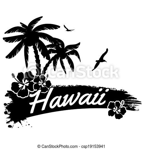 Hawaii poster - csp19153941