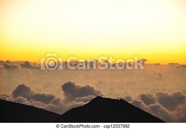 Haleakala Sonnenaufgang in Hawaii - csp12337992