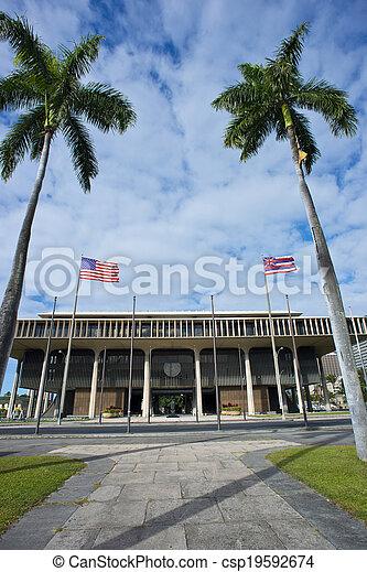 Hawaii State Capital Building. - csp19592674