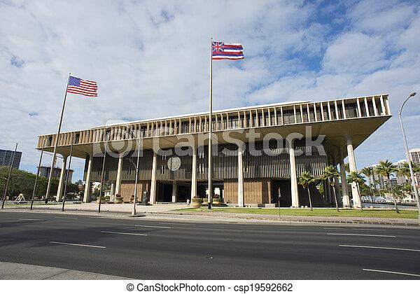 Hawaii State Capital Building. - csp19592662