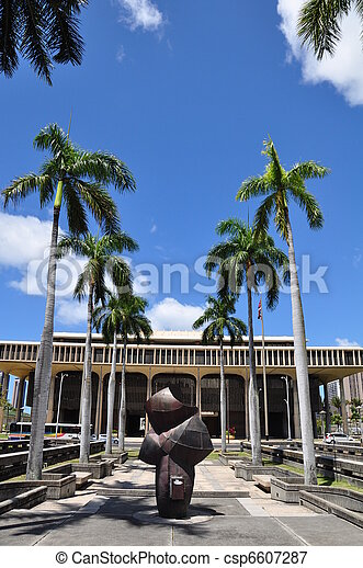 Hawaii State Capitol Building - csp6607287